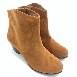 LUCKY BRAND SUEDE BOOTIES BROWN 9 New Heeled Boots